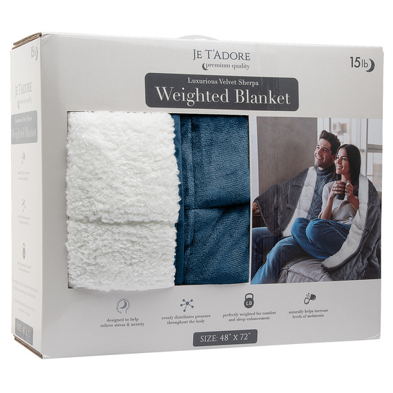 15-lb. Velvet Sherpa Weighted Blanket